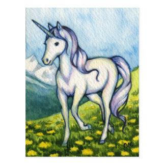 Pureza - arte de la fantasía del unicornio postal