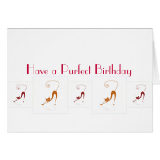 Purfect Birthday Card