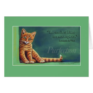 Purfection Greeting Card