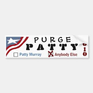 Purge Patty Car Bumper Sticker