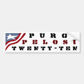 Purge Pelosi Car Bumper Sticker