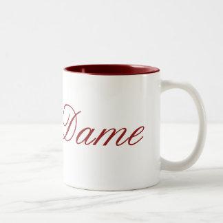 Purifies lady Two-Tone coffee mug
