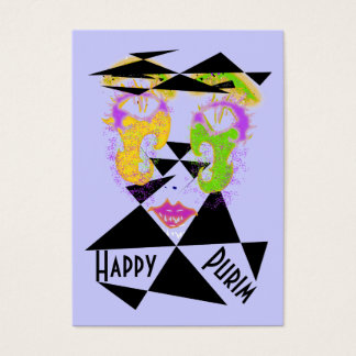 Purim Abstract Costume Gift Cards Lg Sz Business