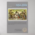 Purim Association Card, 1881 Print