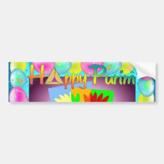 Purim Bumper Sticker Car Bumper Sticker