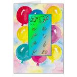Purim Card-Balloons Greeting Card