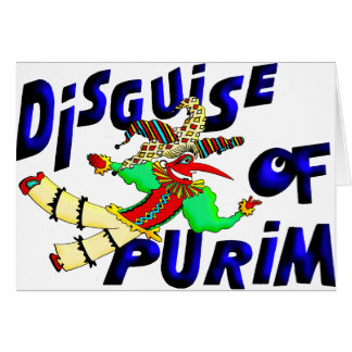 Purim Disguise Card