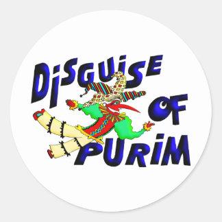 Purim Disguise Classic Round Sticker