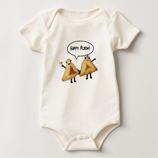 Purim feliz - color de fondo adaptable body para bebé