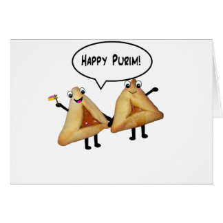 Purim feliz - color de fondo adaptable tarjeta de felicitación