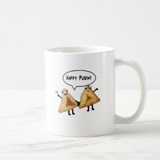Purim feliz - color de fondo adaptable taza