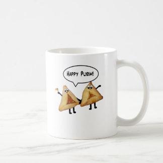Purim feliz lindo Hamantaschen Taza De Café