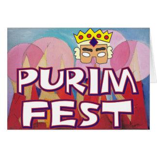 Purim Fest Card
