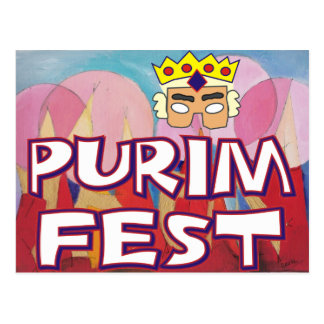 Purim Fest Postcard