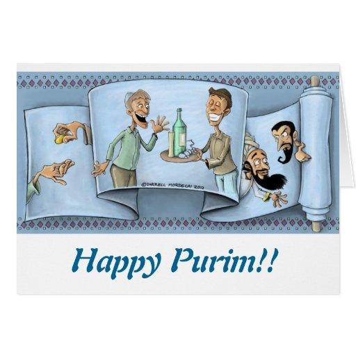 purim greeting card