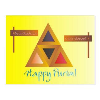 Purim Hamantaschen Postcard