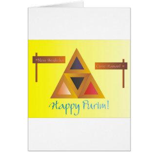 Purim Hamantaschen Tarjeta De Felicitación