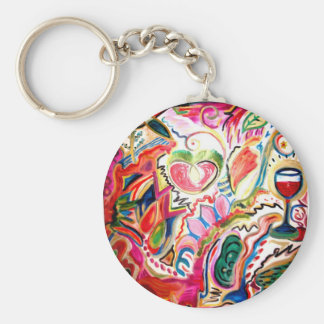Purim Joy - Celebrate Miracles of Spring Keychain