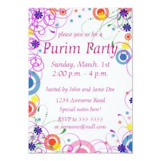 Purim Mask Invitation