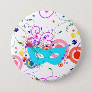 Purim Mask Pinback Button
