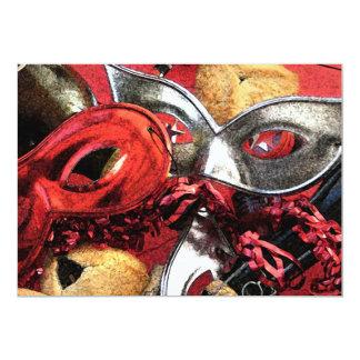 "Purim Masks & Hamentashen Invitation 5"" X 7"" Invitation Card"