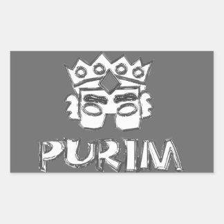 Purim Pegatina Rectangular