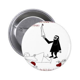 Purim rabínico pin redondo 5 cm