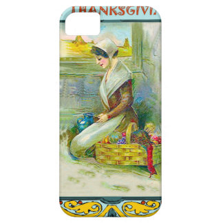 Puritan girl giving thanks iPhone SE/5/5s case