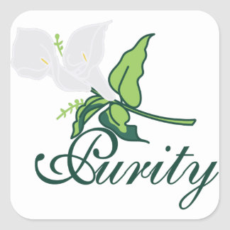 Purity Square Sticker