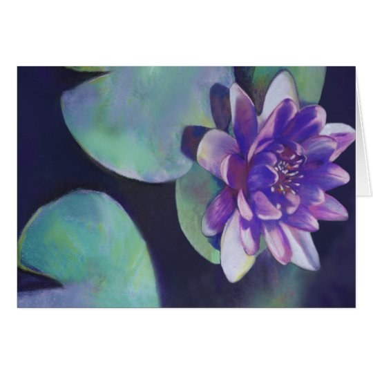 Purity - Waterlily Pastel Card