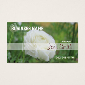 Purity White Roses Business Card