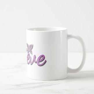 Purle Believe Butterfly glitter Coffee Mug