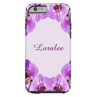 Purle blooming orchids - phalenopsis tough iPhone 6 case