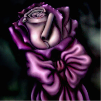Purle Rose Cutout