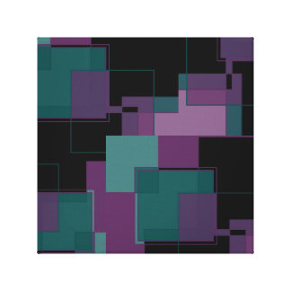 Purlple and Shades of green pattern Canvas Print