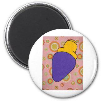 Purlple light 2 inch round magnet