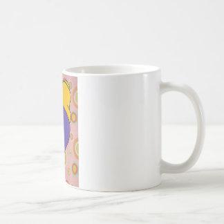 Purlple light classic white coffee mug