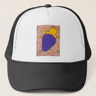 Purlple light trucker hat
