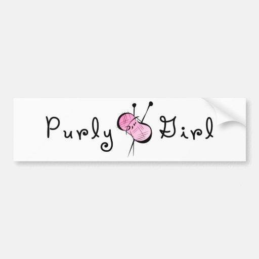 Purly Girl Bumper Stickers