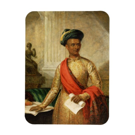 Purniya, Chief Minister of Mysore, c.1801 (oil on Magnet