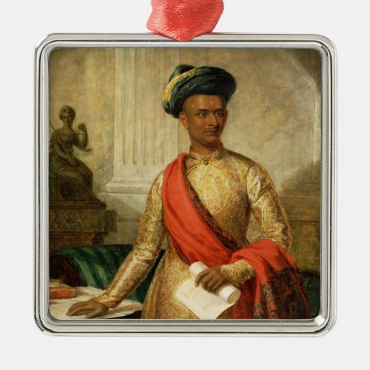 Purniya, Chief Minister of Mysore, c.1801 (oil on Metal Ornament