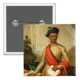 Purniya, Chief Minister of Mysore, c.1801 (oil on Pinback Button