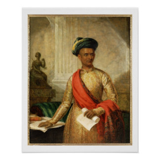 Purniya, principal ministro de Mysore, c.1801 (ace Póster