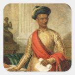 Purniya, principal ministro de Mysore, c.1801 Pegatina Cuadrada