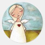Puro del corazón - pegatinas del ángel