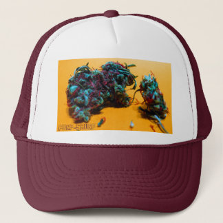 purp-skurp trucker hat