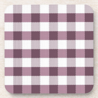 Purpe Table Cloth Pattern Beverage Coaster