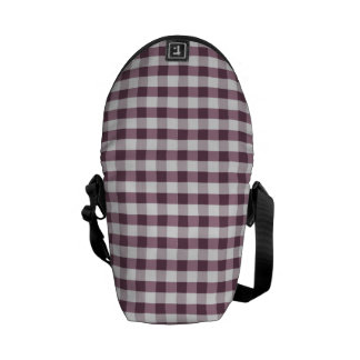 Purpe Table Cloth Pattern Courier Bag