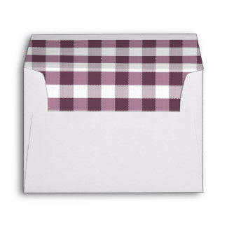 Purpe Table Cloth Pattern Envelope