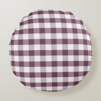 Purpe Table Cloth Pattern Round Pillow